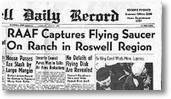 Zeitung aus Roswell: RAAF Captures Flying Saucer On Ranch in Roswell Region