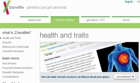 Screenshot 23andMe